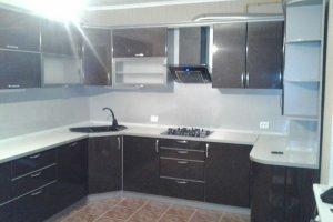П-образная кухня коричневая - Мебельная фабрика «ДОН-Мебель», г. Волгодонск