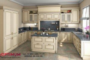 П-образная кухня Неаполь - Мебельная фабрика «Оптимум»