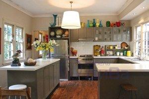 П-образная с островом Кухня Фьюжн - Мебельная фабрика «ДиВа мебель»