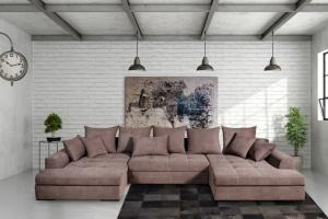 П-образный диван Меган-лайф со спальным местом - Мебельная фабрика «Mebelit»