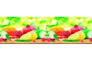 Панель ПВХ кухонная Фрукты - Оптовый поставщик комплектующих «Пластмаркет»