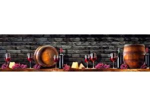 Панель ПВХ кухонная Сомелье - Оптовый поставщик комплектующих «Пластмаркет»