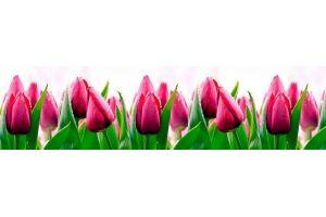 Панель ПВХ кухонная Тюльпаны - Оптовый поставщик комплектующих «Пластмаркет»