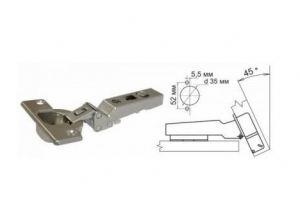 Петля Intermat 9944-T42-W-45 K 10, накл, угол корпуса -45гр - Оптовый поставщик комплектующих «Мебельгрупп»