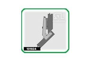 Петля мебельная быстрого монтажа 101824 - Оптовый поставщик комплектующих «Скобяная Лавка»