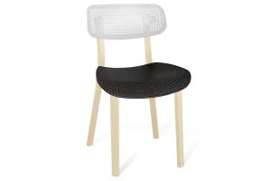 Пластиковый стул SHT S85 бело-черный - Мебельная фабрика «Sheffilton»