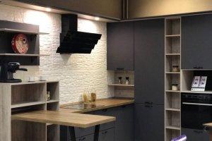 Угловая кухня Пленка ПВХ - графит - Мебельная фабрика «Мебелькомплект»