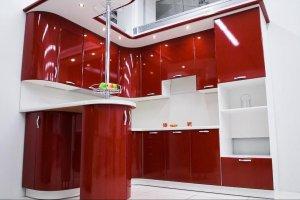 Кухня Пленка ПВХ гранат металлик - Мебельная фабрика «Мебелькомплект»