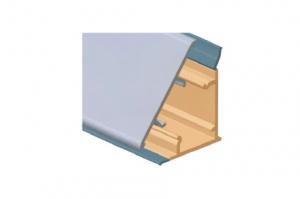 Плинтус  для столешницы, с алюминиевой вставкой  Артикул: M350050S0 - Оптовый поставщик комплектующих «Аметист»