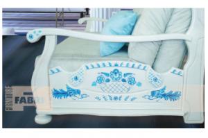 Подлокотник Амадо Брен-ле-Конт Гжель - Оптовый поставщик комплектующих «Fabric Furniture»