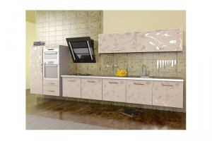 Подвесная бежевая кухня ГАРДЕНИЯ - Изготовление мебели на заказ «КухниДар»