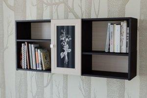Полка для книг ПК 01 2 - Мебельная фабрика «Милайн»