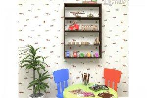 Полка настенная для книг КМ 26 - Мебельная фабрика «Кортекс-мебель»