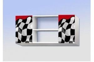 Полка навесная с двумя ящиками Скорость красная - Мебельная фабрика «Рим»