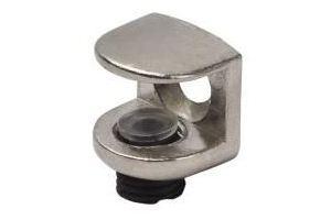 Полкодержатель для стеклянной полки толщиной 5-9мм, никель - Оптовый поставщик комплектующих «МФ-КОМПЛЕКТ»