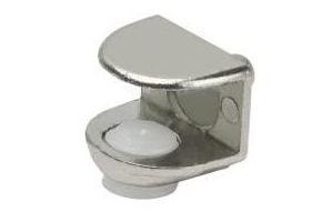 Полкодержатель для стеклянной полки толщиной 5-9мм, со штоком, никель - Оптовый поставщик комплектующих «МФ-КОМПЛЕКТ»