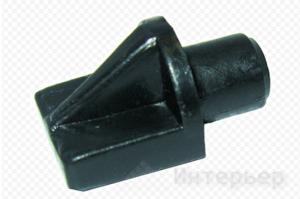Полкодержатель пластмассовый D=6мм 23843 - Оптовый поставщик комплектующих «Интерьер»