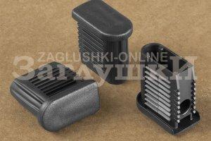 Заглушка полуовальная внутренняя 20х40 мм Артикул 112015802 - Оптовый поставщик комплектующих «Заглушки»