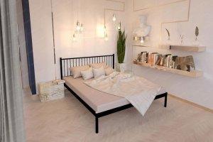 Полуторная металлическая кровать Колумбиа - Мебельная фабрика «Стиллмет»