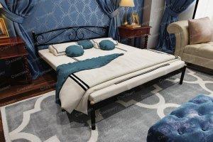 Полуторная металлическая кровать Оптима - Мебельная фабрика «Стиллмет»