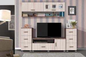Гостиная с навесным шкафами Прага-7 - Мебельная фабрика «Олимп»