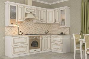 Кухня МДФ с патиной Премьера - Мебельная фабрика «Мебель Поволжья»