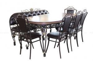 Обеденная группа Премьера со скамьей - Мебельная фабрика «Мебель Поволжья»