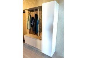 Прихожая белая подвесная - Мебельная фабрика «Дэрия»