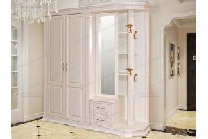 Прихожая большая белая Верди 715 - Мебельная фабрика «Фабрика натуральной мебели»