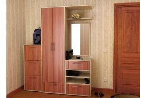 Прихожая прямая МДФ 16 - Мебельная фабрика «Алекс-Мебель»