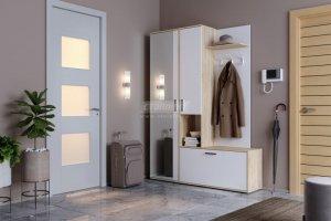 Прихожая Саша Дуб Сонома/Белый - Мебельная фабрика «Столплит»