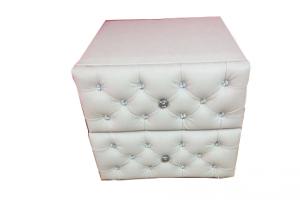 Прикроватная мягкая тумба с каретной стяжкой - Мебельная фабрика «L-Мебель»