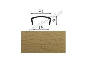 Профиль С16мм L2,8м жесткий, бук фактурный - Оптовый поставщик комплектующих «МФ-КОМПЛЕКТ»