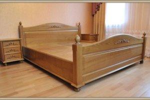 Простая кровать из дерева - Мебельная фабрика «СибСервис»