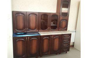 Простая кухня Узор Женева орех 2  - Мебельная фабрика «Шанс»