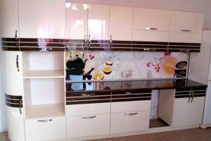 Прямая глянцевая кухня - Мебельная фабрика «Дэрия»