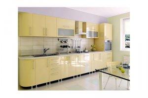 Прямая глянцевая кухня АББи - Изготовление мебели на заказ «КухниДар»