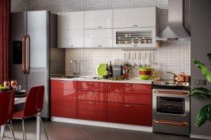 Прямая глянцевая кухня Модерн - Мебельная фабрика «Стиль»