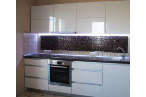 Прямая компактная кухня Фасад Luxe - Мебельная фабрика «Мебель Хаус»