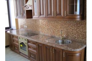 Прямая коричневая кухня - Мебельная фабрика «Мебель-ОС»