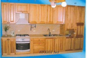 Прямая кухня 5 - Мебельная фабрика «Mebilius»
