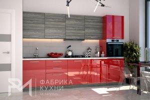 Прямая кухня Акрил Рубин - Мебельная фабрика «Ревдамебель»