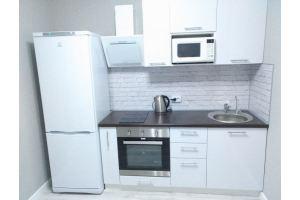 Прямая кухня Белый пластик - Мебельная фабрика «Кухни Вардек»