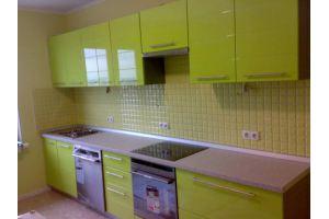 Прямая кухня фасады Эмаль высокий глянец - Мебельная фабрика «Ваша мебель»