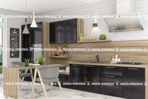 Прямая кухня Графит МДФ - Мебельная фабрика «Мебель Поволжья»