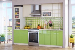 Прямая кухня Ирина - Мебельная фабрика «Эко»