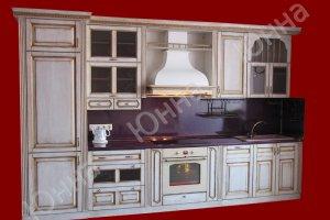 Прямая кухня из массива - Мебельная фабрика «ЮННА»