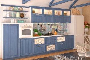 Прямая кухня из массива Деним - Мебельная фабрика «Ревдамебель»