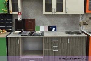 Прямая кухня из пластика - Мебельная фабрика «Buena»