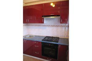 Прямая кухня красный глянец - Мебельная фабрика «SamSam-мебель»